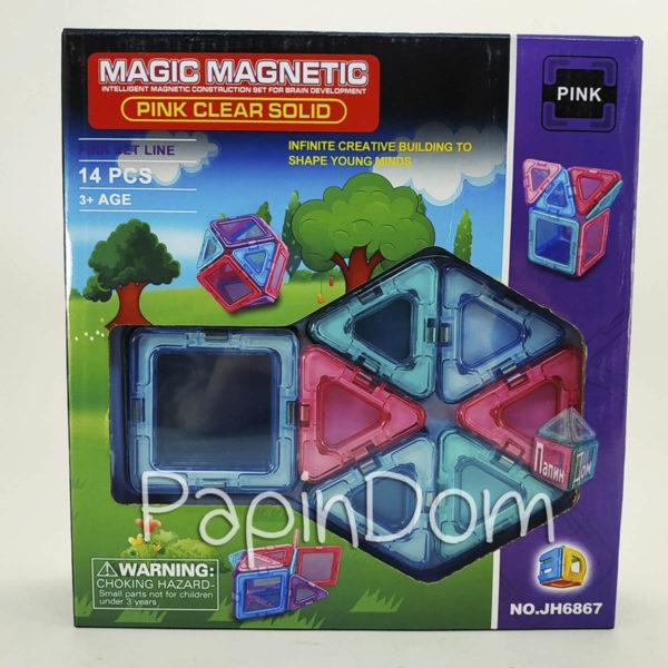 Конструктор магнитный Princess Pinc 14деталей