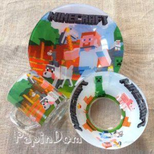 Набор детской посуды Minecraft