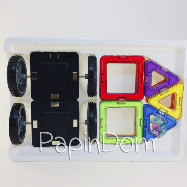 Конструктор магнитный Цветные магниты, 16 деталей