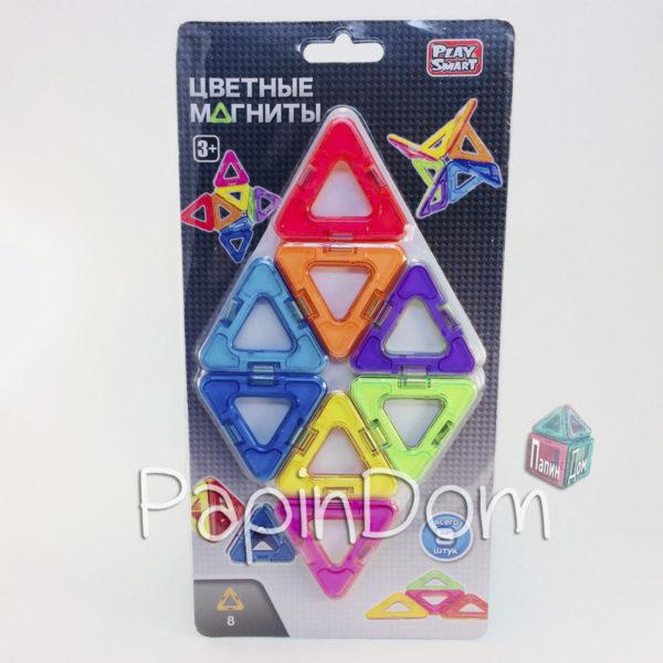 Конструктор магнитный Цветные магниты, 8 деталей