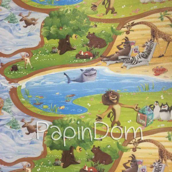 Коврик детский Киндер Мадагаскар 2*1,2м*12мм