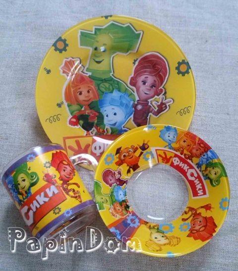 Набор детской посуды Фиксики