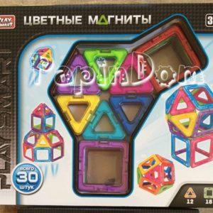 Конструктор магнитный Цветные магниты, 30 деталей