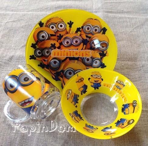 Набор детской посуды Minions