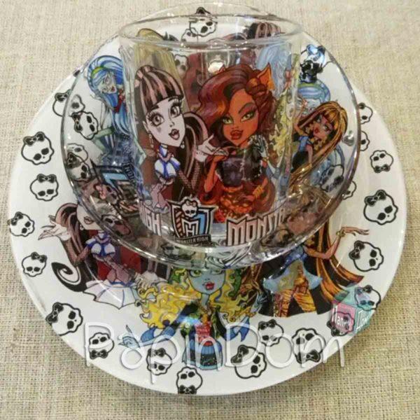 Набор детской посуды Монстер хай