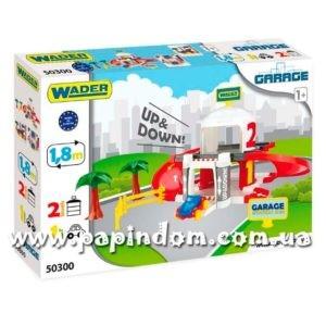 Игровой набор Wader 50300 Гараж с лифтом 2 уровня