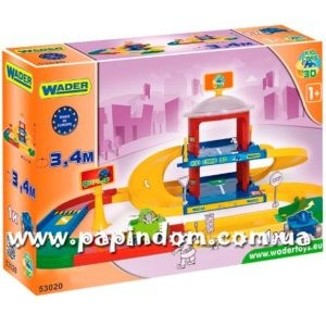 Игровой набор Wader 53020 Kid Cars 3D гараж 2 уровня