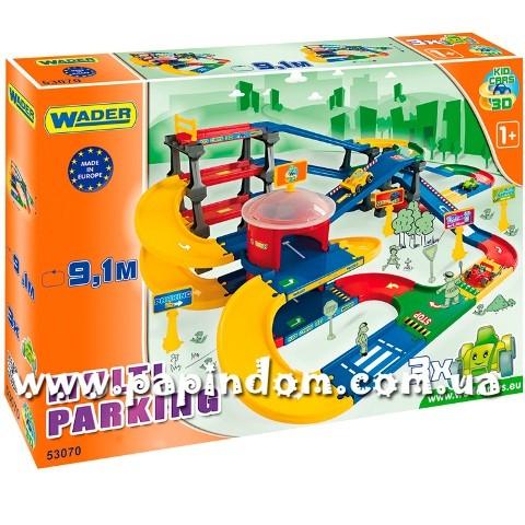 Игровой набор Wader Kid Cars 3D 53070 Мультипаркинг
