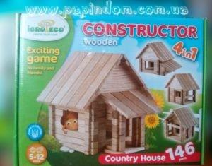 Конструктор из дерева Загородный дом