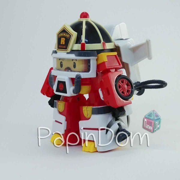 Фигурка-трансформер Рой в костюме пожарника Poli Robocar