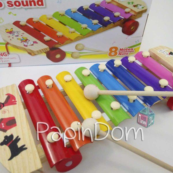Деревянная игрушка Ксилофон MQ2