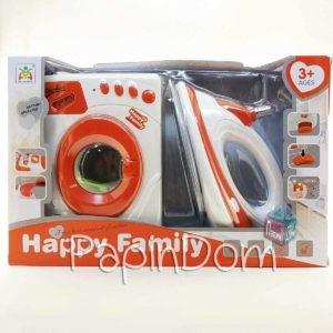 утюг и стиральная машина HappyFamily