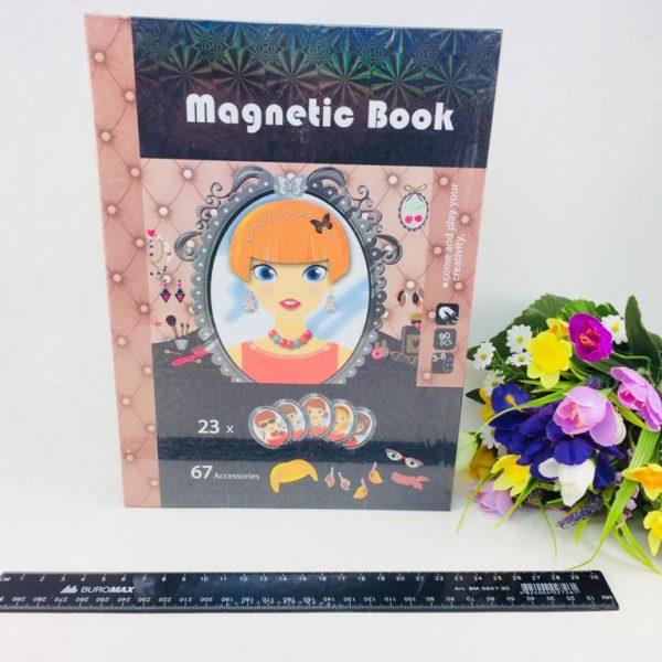 Magnetic book Стилист - смешные лица Магнитная книга