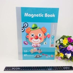 Magnetic book Клоун - смешные лица Магнитная книга