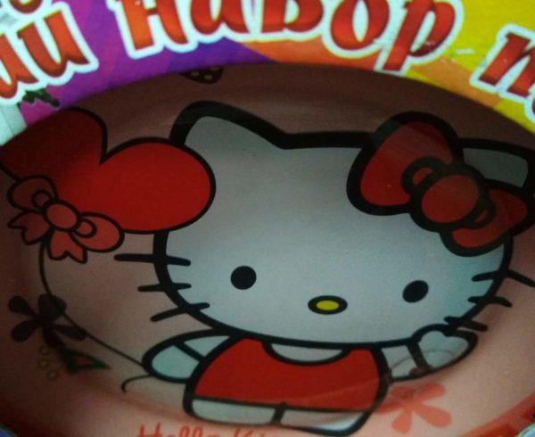 Набор детской посуды Hello Kitty