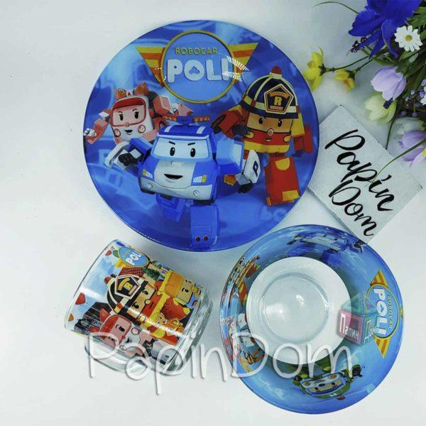 Набор детской посуды Робокар Поли