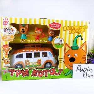Три кота пикник на автобусеТри кота пикник на автобусе