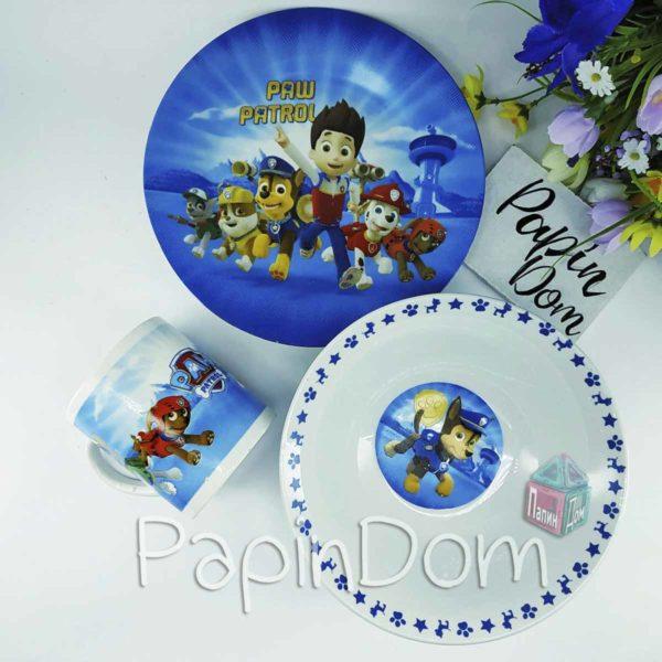 Набор детской посуды щенячий патруль (керамика)