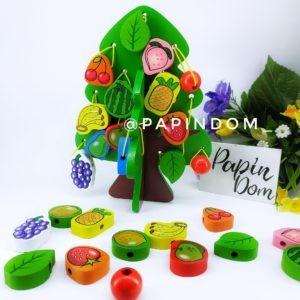 Деревянная игрушка Шнуровка дерево