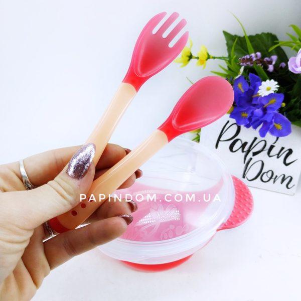 Детская тарелочка на присоске, набор