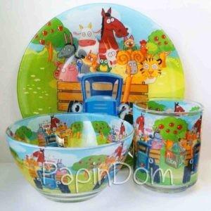 набор детской посуды Трактор