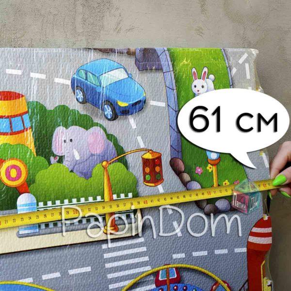 Коврик пазл детский игровой Город 1,2*1,2м