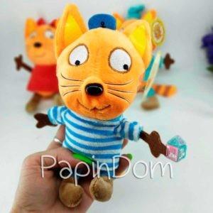 Три кота Коржик 18см мягкая игрушка