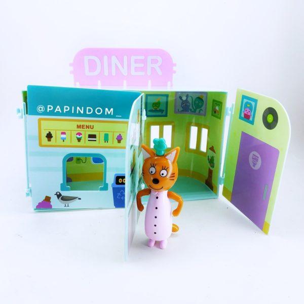 Игровой набор Три кота кафе Diner 3героя набор