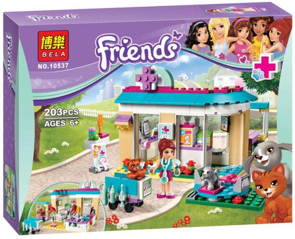Конструктор Bela Friends 10537 Ветеринарная клиника 203 детали Аналог LEGO Friends 41085