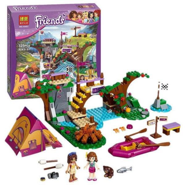 Конструктор Bela 10493 Спортивный лагерь: сплав по реке 325 деталей Аналог Lego Friends 41121