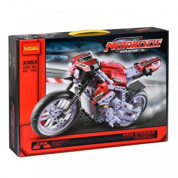 Конструктор Decool 3353 Мотоцикл, 431 деталь аналог Lego Technik