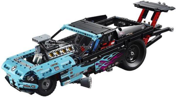 Конструктор Decool 3367 Драгстер Technology 647 деталей аналог Lego Technic 42050