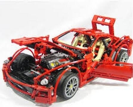 Конструктор Decool 3333 Ferrari 599 GTB Fiorano 1322 деталей аналог Lego Technic 8145