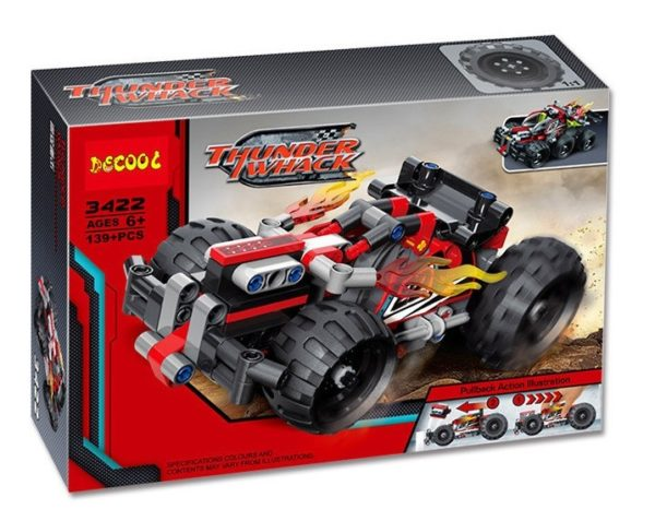 Конструктор Decool 3422 гоночный автомобиль Красный 139 деталей Аналог Lego Technic 42073