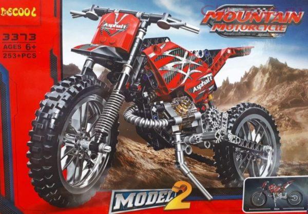 Конструктор Decool 3373 Горный мотоцикл 2-в-1 аналог Lego Techniс 42007