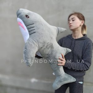 Акула мягкая игрушка 110см. Большая, мягкая игрушка-подушка Акула