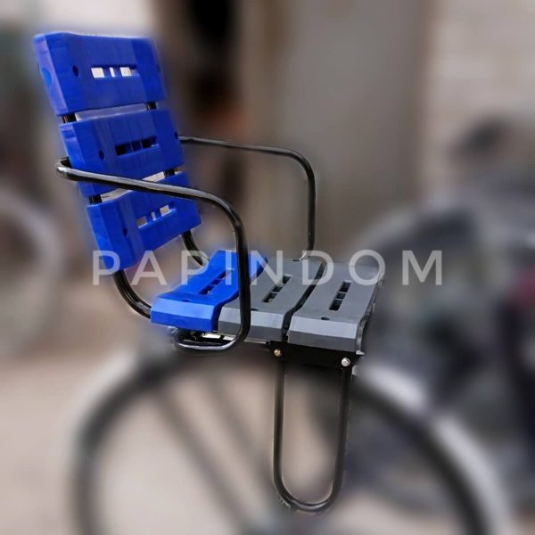 Сиденье детское усиленное на багажник велосипеда пластик-метал
